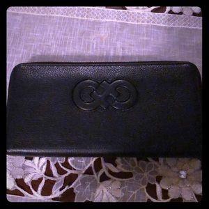 Black leather wallet.